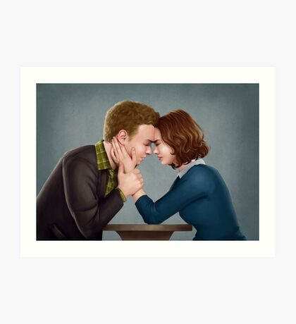 A Forehead Touch Between Two Scientists Art Print