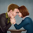 A Forehead Touch Between Two Scientists by eclecticmuse