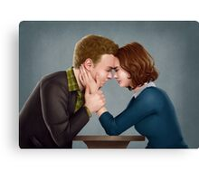 A Forehead Touch Between Two Scientists Canvas Print