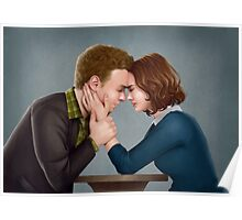 A Forehead Touch Between Two Scientists Poster