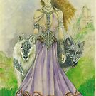 Elven Wolf Queen by morgansartworld