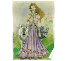 Elven Wolf Queen Poster