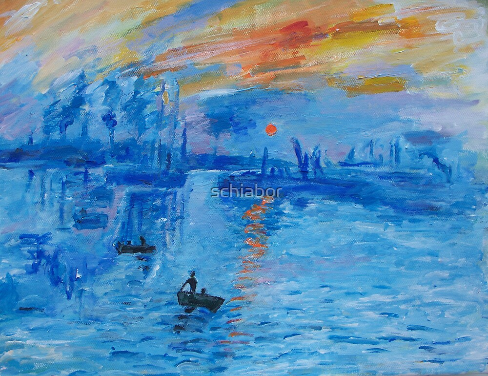 """Impression, Sunrise Monet painting Soleil Levan"" by ..."