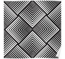 "Optical Illusion Design ""MOU"" Poster"