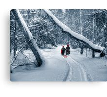 Hiking to the Gully Canvas Print