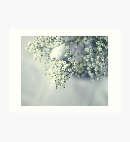 Whispery white Art Print