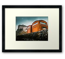 Red Phoneboxes By Edinburgh Castle Framed Print