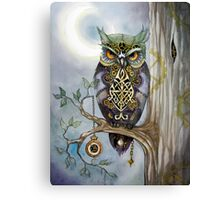 Clockwork Owl 1 Canvas Print