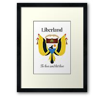 Liberland - To live and let live Framed Print
