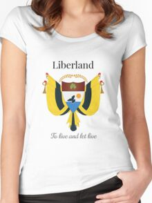 Liberland - To live and let live Women's Fitted Scoop T-Shirt