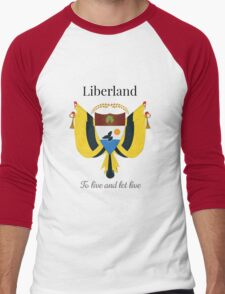Liberland - To live and let live Men's Baseball ¾ T-Shirt