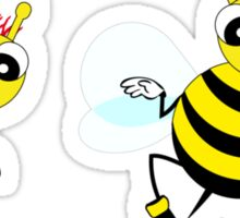 Two cute  little bees  Sticker