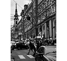 xmas streets. vienna, austria Photographic Print
