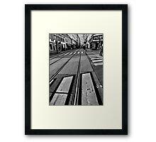 crossings. vienna, austria Framed Print
