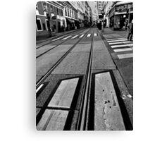 crossings. vienna, austria Canvas Print