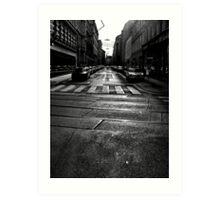 winter street. vienna, austria Art Print