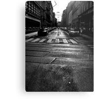 winter street. vienna, austria Metal Print