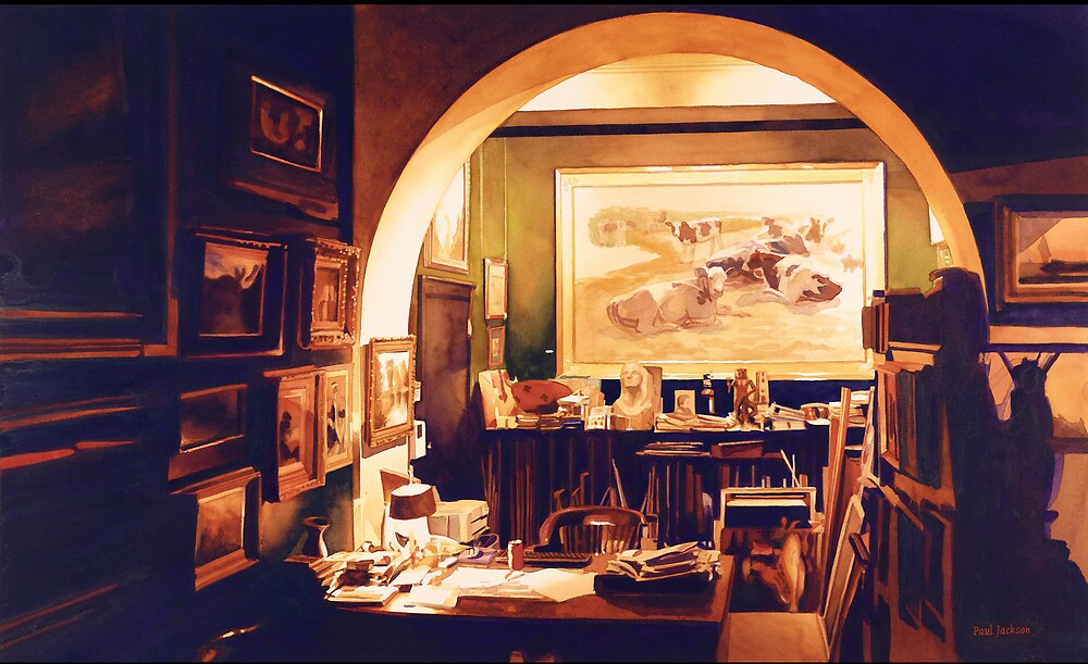 """""""Obsession"""" Studio Watercolor by Paul Jackson"""