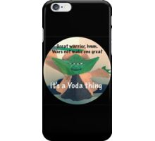 Yoda Speaks Wisdom iPhone Case/Skin