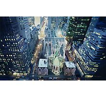 """New York Nightlights"" Watercolor Photographic Print"
