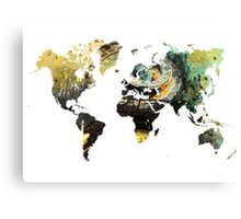 Map of the world time  Canvas Print