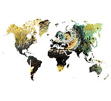 Map of the world time  Photographic Print