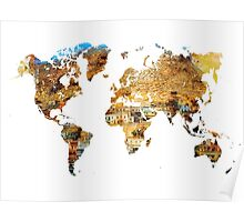 Map of the world house living Poster