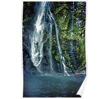 sunderland falls. milford sound, aotearoa Poster