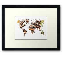 Map of the world architecture Framed Print