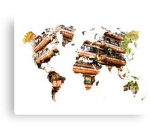 Map of the world architecture Canvas Print
