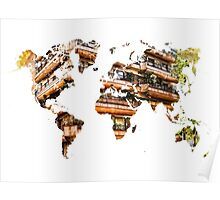 Map of the world architecture Poster