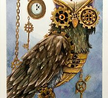 Clockwork Owl 2 by Valerie Flynn