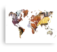 Map of the world architecture style Canvas Print
