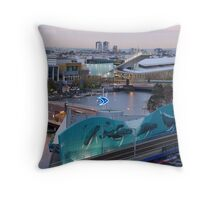 Melbourne Southbank, Early Morning Throw Pillow