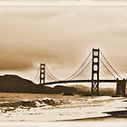 Golden Gate ~ Sepia Tone by NancyC