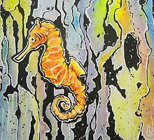 Rainbow Seahorse by Valerie Flynn