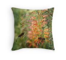 Bee In Flight Throw Pillow