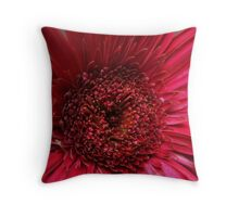 Red Flower Macro Throw Pillow