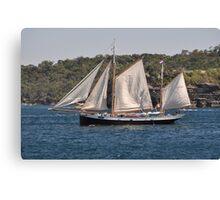 """Tecla"", Tall Ships Departure, Manly, Australia 2013 Canvas Print"