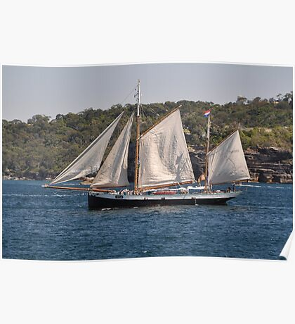 """Tecla"", Tall Ships Departure, Manly, Australia 2013 Poster"