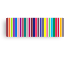stripe alphabet on white Canvas Print