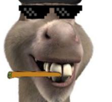 Donkey Smokes Weed Everyday Sticker