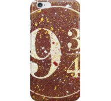 Harry Potter Platform 9 3/4 iPhone Case/Skin