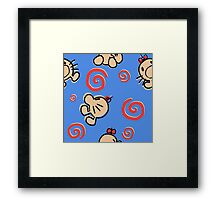MR.SATURN , POING!! Framed Print