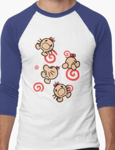 MR.SATURN , POING!! Men's Baseball ¾ T-Shirt