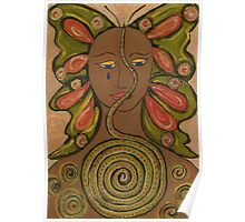 Butterfly-snake woman Poster