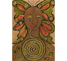 Butterfly-snake woman Photographic Print