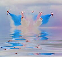 Break In The Clouds Flood Filter - The Red Arrows - Dunsfold 2014 by Colin  Williams Photography