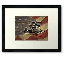 Off to War (American Flag) Framed Print