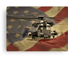 Off to War (American Flag) Canvas Print